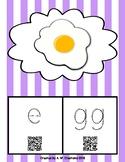 Phonics QR Code Task Cards - Short Vowels (Short e) **FREEBIE**