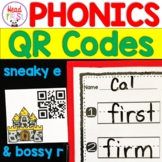 1st Grade Reading Center with QR Codes for Sneaky E Bossy R Controlled Vowels