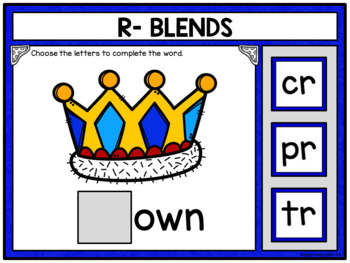 Phonics R Blends Building Words Activity for Google Drive and Google Classroom
