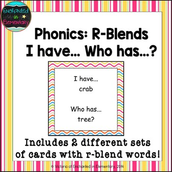 Phonics: R-Blends- I Have, Who Has?