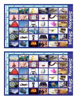 Phonics R Controlled Vowels ar-or-er-ir-ur Photo Battleship Game