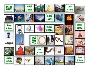 Phonics R Controlled Vowels ar-or-er-ir-ur Photo Board Game