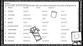 Phonics - R-Controlled Vowels (ar/er/ir/or/ur) & (air/are/eer/ear) Worksheets
