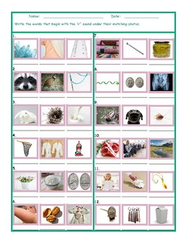 Phonics R Sound Photo Worksheet