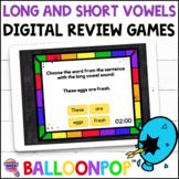 Phonics RF.2.3.A Long & Short Vowels BalloonPop™ Digital Review Games