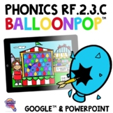 Phonics RF.2.3.C Two Syllable Words Long Vowels BalloonPop™ Digital Review Games
