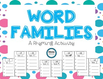 Phonics RHYMING Fill-ins NO PREP (sped/autism/elementary)