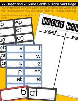 Nonsense Words Reading Game, RTI Phonics