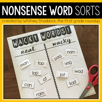 Nonsense Word Fluency Reading Games and Sorts