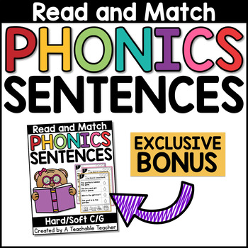 Phonics Read & Match Sentences BUNDLE