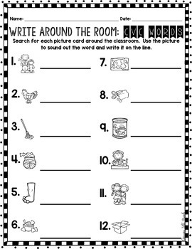 Phonics Read/Write Around the Room: Beginning and Ending Digraphs Version