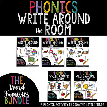Phonics Read/Write Around the Room: Word Families Bundle
