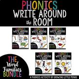 Phonics Read/Write Around the Room: Word Families Bundle