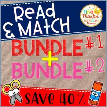Phonics Read and Match, BIG BUNDLE  (bundle 1 + 2)