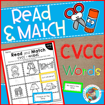 Phonics Read and Match (CVCC edition)
