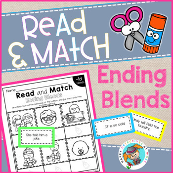 Phonics Read and Match (Ending Blends edition)