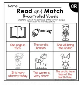 Phonics Read and Match (R-controlled Vowels edition)