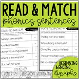 Phonics Read and Match Sentences: Digraphs