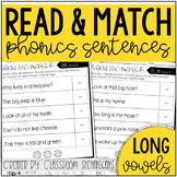 Phonics Read and Match Sentences: Long Vowels {Cut and Paste}