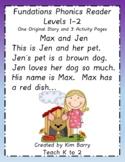 Phonics Reader - Level 1:  Max and Jen
