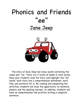 """Phonics Reader """"ee"""" words"""
