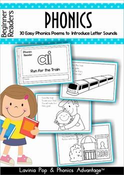 Phonics Readers - 30 Easy Phonics Poems to  Introduce Lett