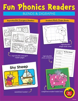 Phonics Readers: Blends & Digraphs Reproducible Emergent Readers & Shape Books