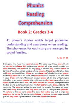 Phonics Reading Comprehension Book 2 Grades 3-4