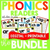 Phonics Readers and Phonics Boom Cards™ Bundle Distance Learning
