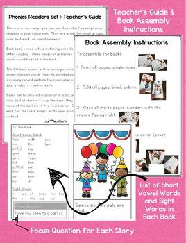 Phonics Readers: Short Vowels (Set 1)