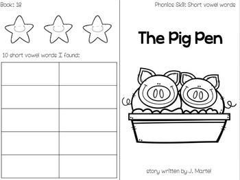 Phonics Readers ( foldable books, passages, word lists, comprehension questions)