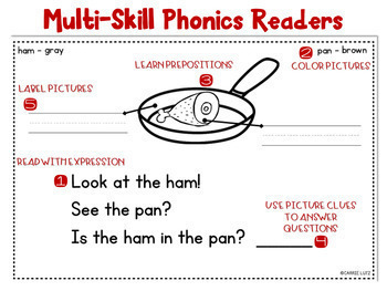 Phonics Readers with Short Vowels ~ Multi-Skills