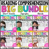 Phonics Reading Comprehension Passages BUNDLE  Paper & Digital Distance Learning