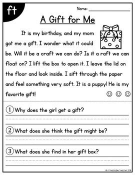 Phonics Reading Comprehension Passages & Questions Add-On BUNDLE