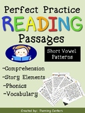 Phonics Reading Comprehension Passages - Story Elements and Short Vowel Patterns