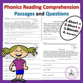 Phonics Reading Comprehension Passages and Questions