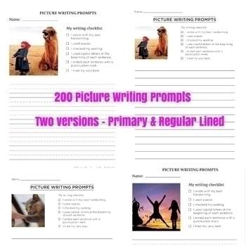 170 Phonics Reading Comprehension Passages & 200 Picture Writing Prompts