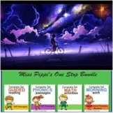 Phonics Reading Comprehension Passages & Questions, Math Puzzles, Writing Prompt