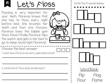 Phonics Brochures/Reading Passages Comprehension Bundle - Distance Learning