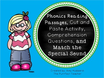 Phonics Reading Passages, Comprehension Questions, and Activities
