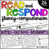Phonics Reading Passages - Fluency & Comprehension - Blends & Digraphs Beginners