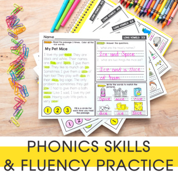 Phonics Reading Passages | Phonics Mats Bundle