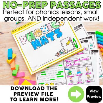 2nd Grade Phonics Reading Passages | Phonics Mats Bundle | Phonics Worksheets