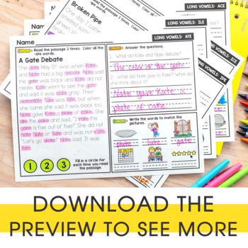 2nd Grade Phonics Reading Passages | Digital & Printable | Distance Learning