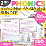 2nd Grade Phonics Reading Passages | Phonics Mats Bundle |