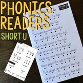 Kindergarten Phonics Reading Passages for CVC Words - Short U Word Family