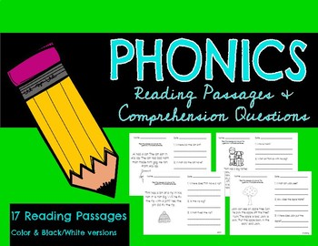 Phonics Reading Passages and Comprehension Questions