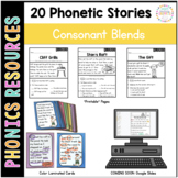 Phonics Decodable Passages and Story Cards: Consonant Blends
