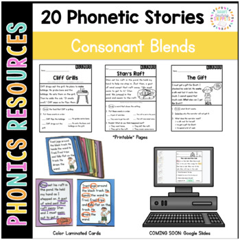 Phonics Reading Passages and Story Cards: Consonant Blends