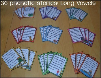 Phonics Decodable Passages and Story Cards: LONG Vowel Edition
